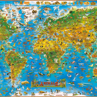 Jigsaw puzzle 1000 pieces animal world map sky city bus puzzle jigsaw puzzle 1000 pieces animal world map sky city bus gumiabroncs Images